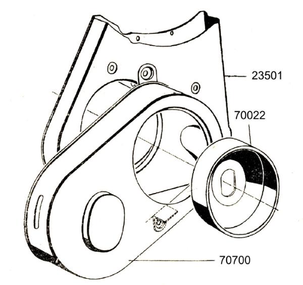 Antriebsverkleidung der Hydraulikpumpe