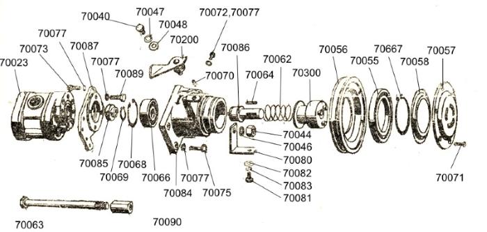 Antrieb der Hydraulikpumpe
